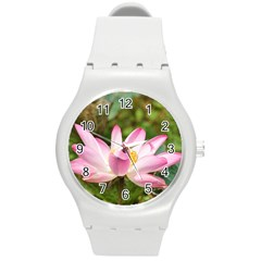 A Pink Lotus Plastic Sport Watch (medium) by natureinmalaysia