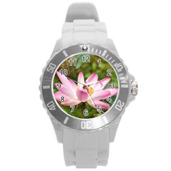 A Pink Lotus Plastic Sport Watch (large) by natureinmalaysia