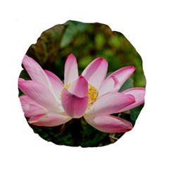 A Pink Lotus 15  Premium Round Cushion  by natureinmalaysia