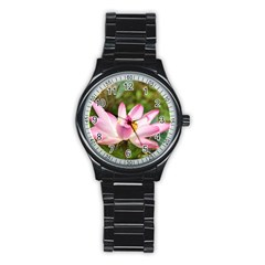 A Pink Lotus Sport Metal Watch (black) by natureinmalaysia