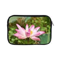 A Pink Lotus Apple Ipad Mini Zipper Case by natureinmalaysia