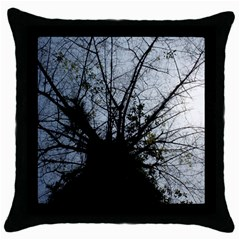 An Old Tree Black Throw Pillow Case by natureinmalaysia