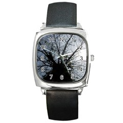 An Old Tree Square Leather Watch by natureinmalaysia