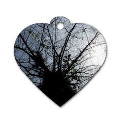 An Old Tree Dog Tag Heart (one Sided)  by natureinmalaysia