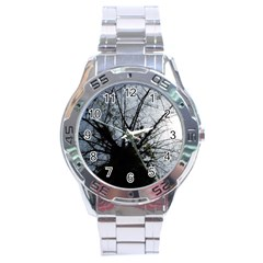 An Old Tree Stainless Steel Watch (men s)