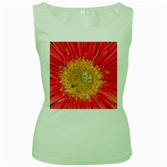A Red Flower Womens  Tank Top (green) by natureinmalaysia