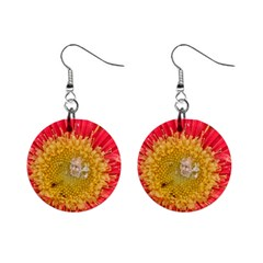 A Red Flower Mini Button Earrings by natureinmalaysia