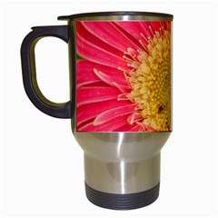 A Red Flower Travel Mug (white) by natureinmalaysia
