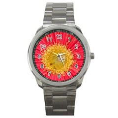 A Red Flower Sport Metal Watch by natureinmalaysia