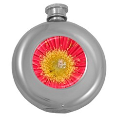 A Red Flower Hip Flask (round) by natureinmalaysia