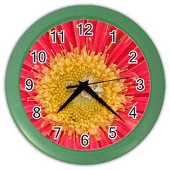 A Red Flower Wall Clock (color) by natureinmalaysia