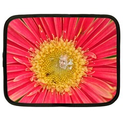 A Red Flower Netbook Case (large) by natureinmalaysia