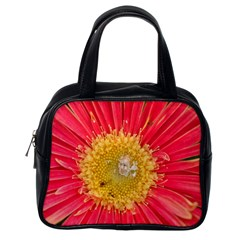 A Red Flower Classic Handbag (one Side) by natureinmalaysia
