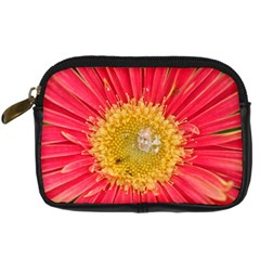 A Red Flower Digital Camera Leather Case by natureinmalaysia