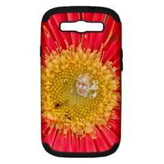 A Red Flower Samsung Galaxy S Iii Hardshell Case (pc+silicone) by natureinmalaysia