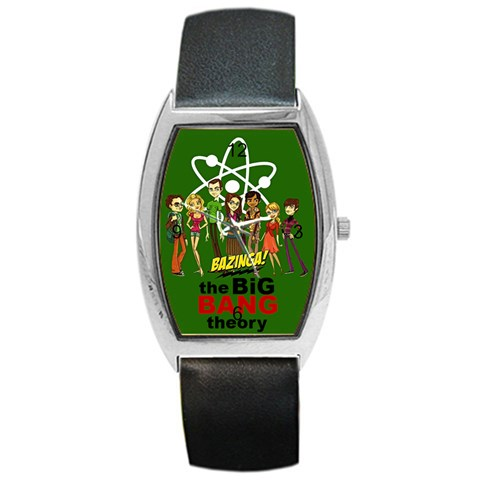 Big Bang Theory Watch By Claire Mcallen   Barrel Style Metal Watch   Oc3772akaunj   Www Artscow Com Front