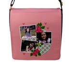 Flap Closure Messenger Bag (L)- Sweet Bianca