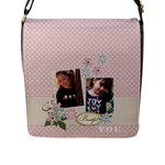 Flap Closure Messenger Bag (L)-Beautiful YOU - Flap Closure Messenger Bag (Large)