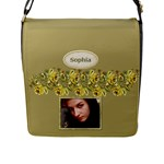 Country Gold Flap Closure Messenger Bag (Large) - Flap Closure Messenger Bag (L)