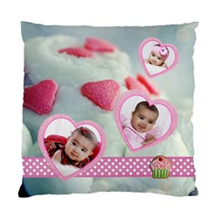 Cupcake Hearts 2 Sided Cushion Case By Ivelyn   Standard Cushion Case (two Sides)   Qet5t22oidhr   Www Artscow Com Front