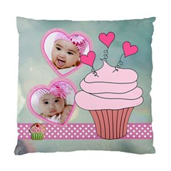 Cupcake Hearts 2 Sided Cushion Case By Ivelyn   Standard Cushion Case (two Sides)   Qet5t22oidhr   Www Artscow Com Back