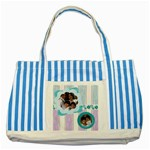 stripes - Striped Blue Tote Bag