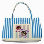 stripes II - Striped Blue Tote Bag