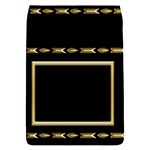 Black and Gold Removable Flap Cover (small) - Removable Flap Cover (S)