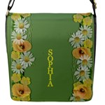 Yellow Poppy Flap Closure Messenger Bag (Small) - Flap Closure Messenger Bag (S)