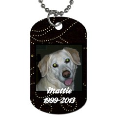 Mattietag By Chris Elliott   Dog Tag (two Sides)   Mmtpn1e87jek   Www Artscow Com Front