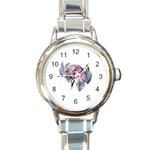 flower5 Round Italian Charm Watch
