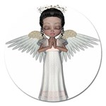 Angel Praying Magnet 5  (Round)