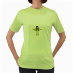 Angel Praying Women s Green T-Shirt