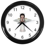 Angel Praying Wall Clock (Black)