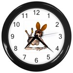 Play Bunny Wall Clock (Black)