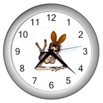Play Bunny Wall Clock (Silver)