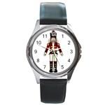 Nutcraker Round Metal Watch