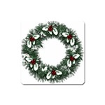 Christmas Wreath Magnet (Square)