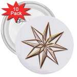 Star 3  Button (10 pack)
