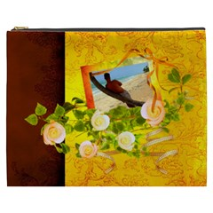 Golden Summer   Cosmetic Bag (xxxl)  By Picklestar Scraps   Cosmetic Bag (xxxl)   S1a6x66338c7   Www Artscow Com Front