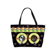 Doggy/kitty Shoulder Bag By Joy Johns   Classic Shoulder Handbag   P6uchlbbh51h   Www Artscow Com Front