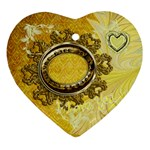 Life is a Treasure Gold Heart Christmas Ornament - Ornament (Heart)