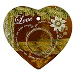 One Moment...Gold Heart Christmas Ornament - Ornament (Heart)