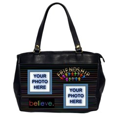 Friendship Office Bag, 2 Sides By Joy Johns   Oversize Office Handbag (2 Sides)   07rk2z9oyp4i   Www Artscow Com Front