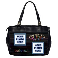 Friendship Office Bag, 2 Sides By Joy Johns   Oversize Office Handbag (2 Sides)   07rk2z9oyp4i   Www Artscow Com Back