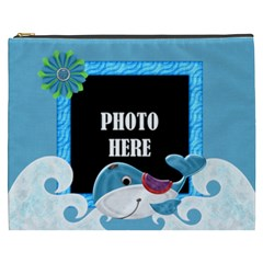 Our Backyard Party Xxxl Cosmetic Bag By Lisa Minor   Cosmetic Bag (xxxl)   Jc84l65njebd   Www Artscow Com Front