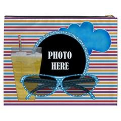 Our Backyard Party Xxxl Cosmetic Bag By Lisa Minor   Cosmetic Bag (xxxl)   Jc84l65njebd   Www Artscow Com Back