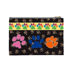 Kitty/doggy Large Cosmetic Bag By Joy Johns   Cosmetic Bag (large)   Sltfuy7ltr84   Www Artscow Com Back