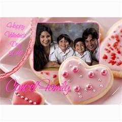 Happy Valentine By Ivelyn   5  X 7  Photo Cards   4gdm7kobazor   Www Artscow Com 7 x5  Photo Card - 9