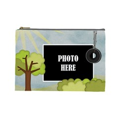 At The Park Large Cosmetic Bag By Lisa Minor   Cosmetic Bag (large)   Sxoosehf0her   Www Artscow Com Front